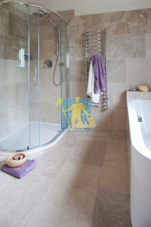 Adelaide limestone tile sample classic almond tumbled bathroom tiles
