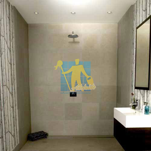 limestone wall tile shower