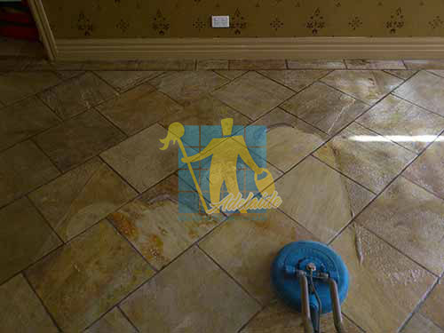 Sandstone Tile Restoration Before & After