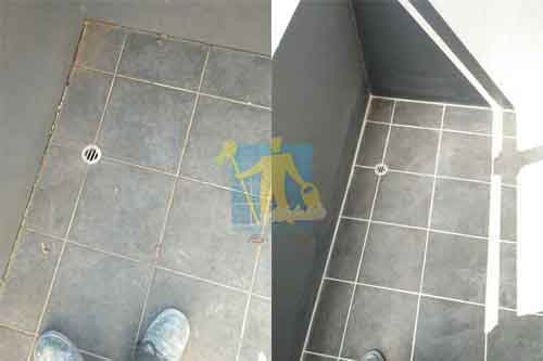 before and after bathrrom regrouting Adelaide