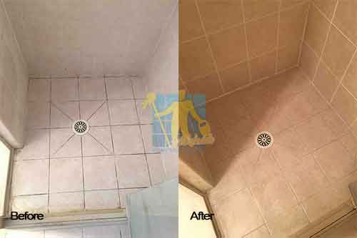 before restoring travertine shower floors and walls Adelaide