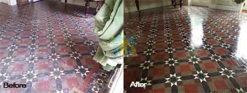 victorian tile floor cleaning from