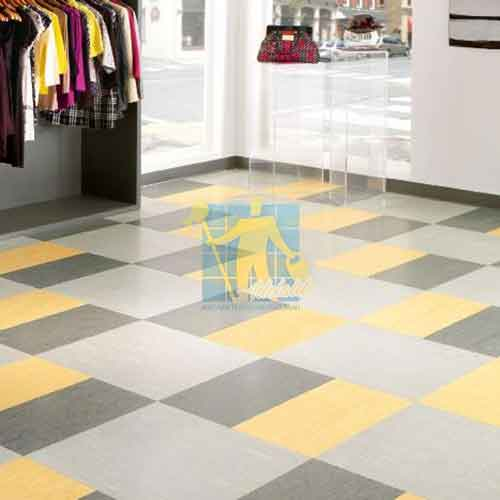 Commercial tile cleaning Vinyl tiles square