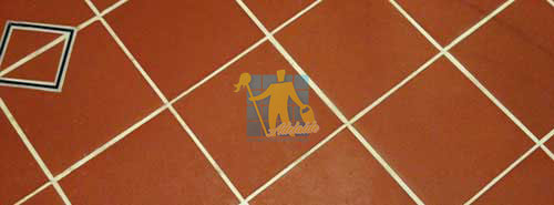 cleaned quarry tiles with white cleaned grout lines