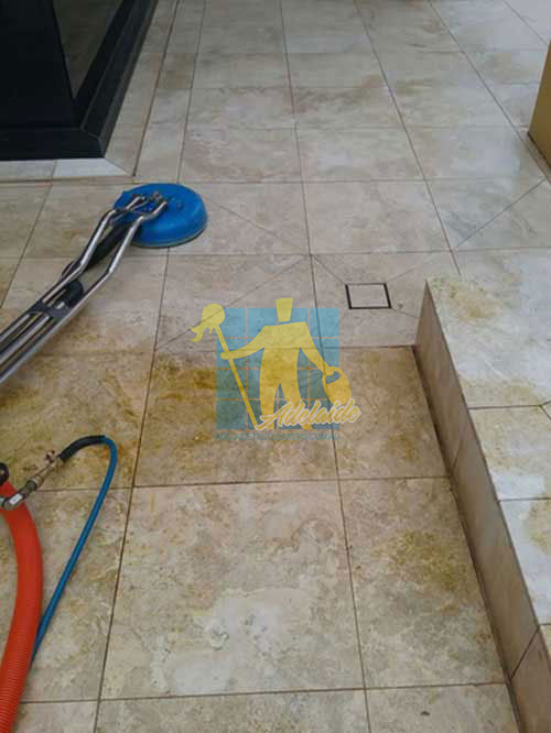 during cleaning travertine floor tiles Adelaide