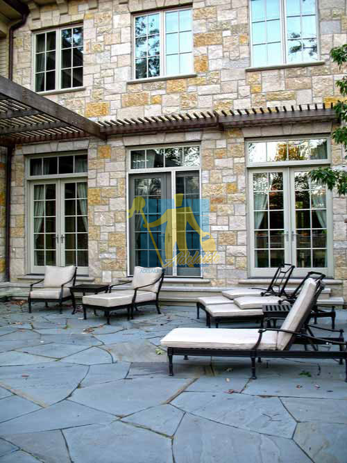 bluestone tiles patio traditional landscape irregular pattern