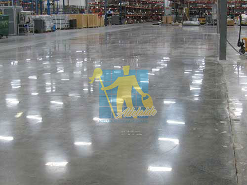 shiny Polished Concrete floor