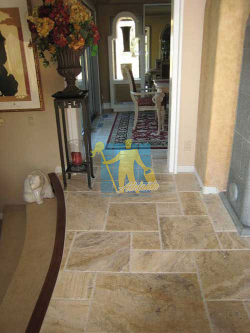 travertine tile pattern floor