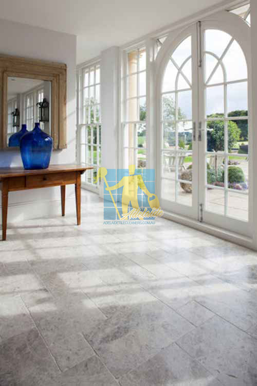 marble tumbled tundra tile living room