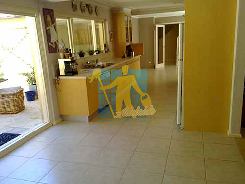 porcelain tiles floor inside furnished home after cleaning kitchen floors