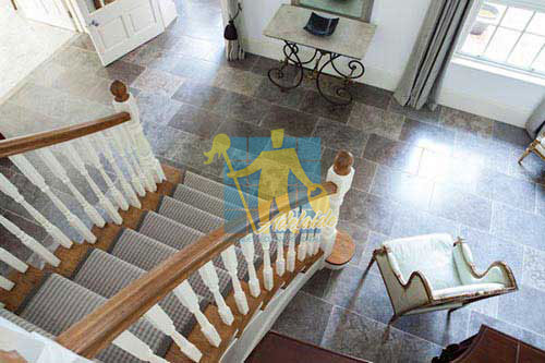 stone tile tumbled dark under staircase Adelaide