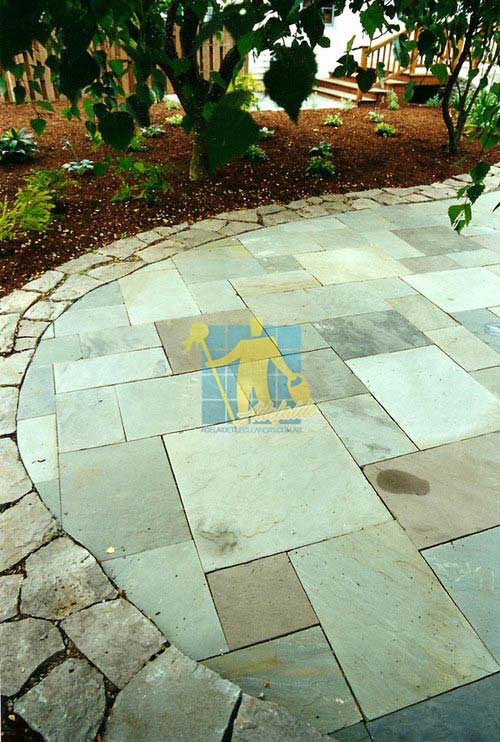 Tranmere stone tiles outdoor patio border no grout