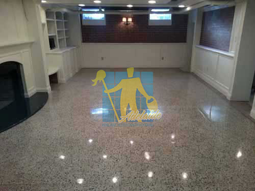terrazzo tiles polished light colour in modern_basement