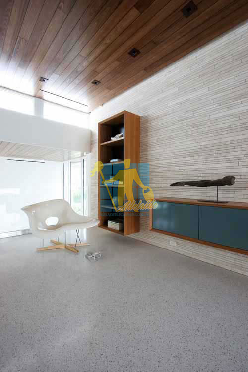 terrazzo tiles polished light color in modern living room