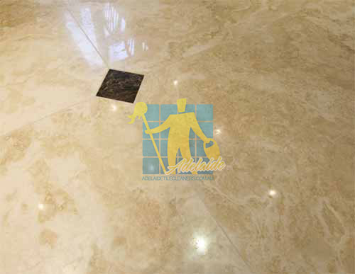 Gawler Polished Travertine Stone Tile Sample Sealer after tile and grout cleaning
