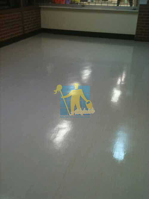 Vinyl Floor Polishing